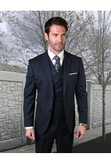 "Statement Statement ""Angel"" Vested Suit - Navy"