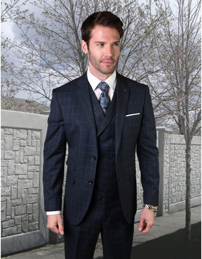 "Statement Statement ""Angel"" Vested Suit - Navy"