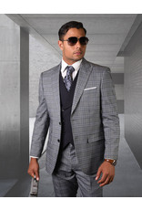 "Statement Statement ""Tivoli"" Vested Suit - Eggplant"
