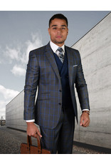 """Statement Statement """"Porto"""" Vested Suit - Charcoal"""
