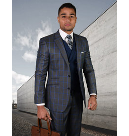 "Statement Statement ""Porto"" Vested Suit - Charcoal"