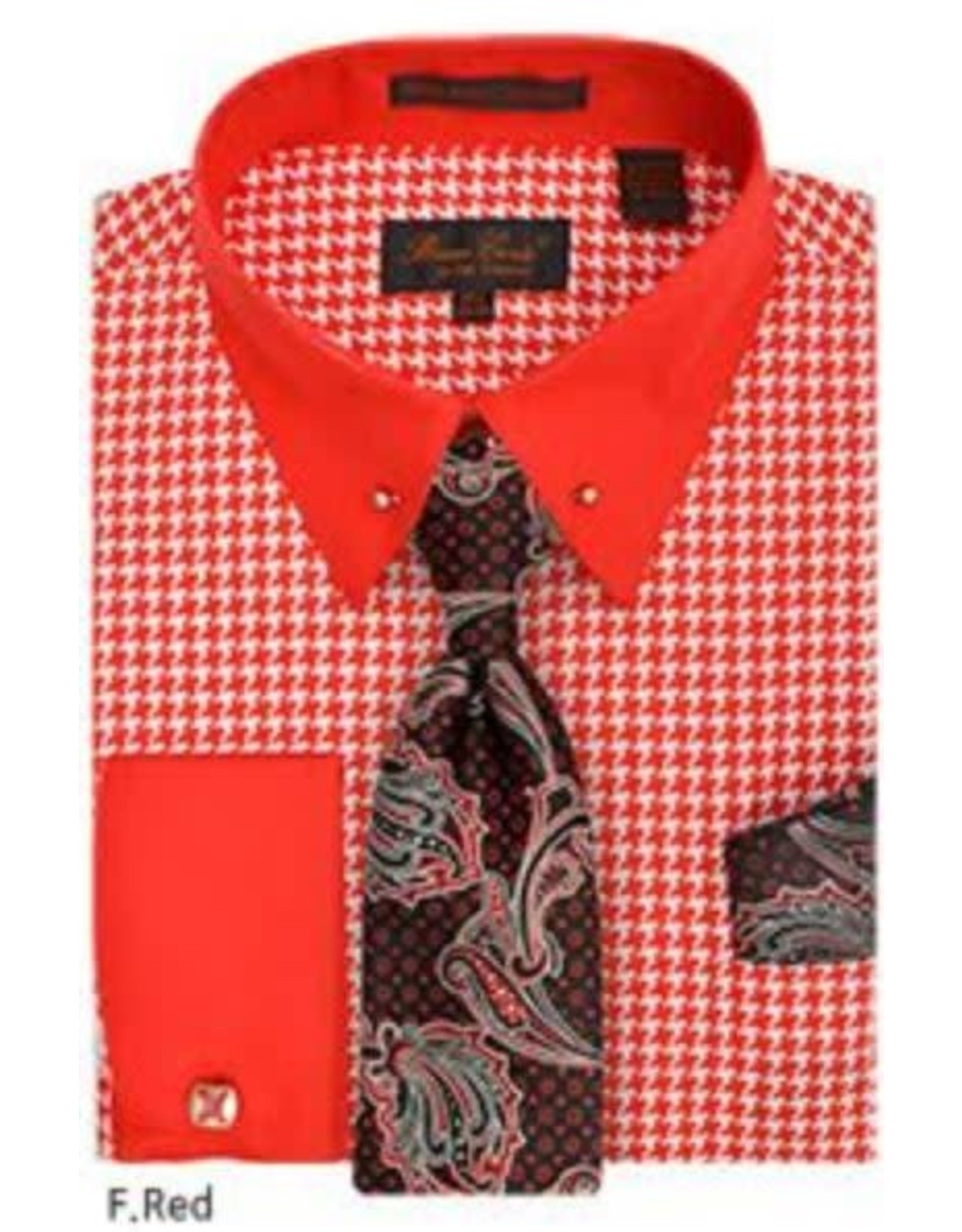 Bruno Conte Bruno Conte Shirt Set CS067 Red