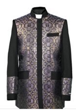 Royal Diamond Church Jacket - Black/Purple