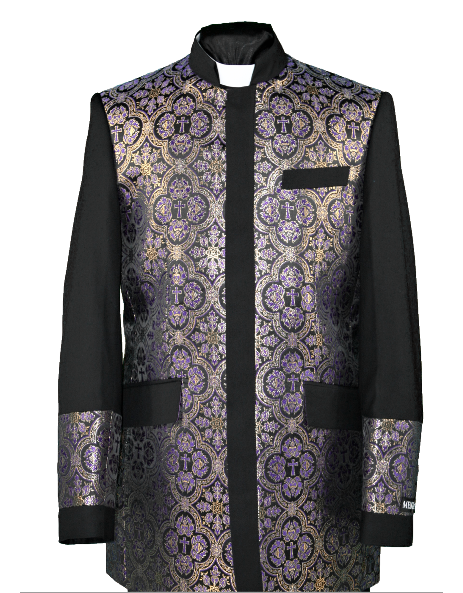 Royal Diamond Church Jacket - Black/Purple