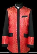 Royal Diamond Church Jacket - Black/Red