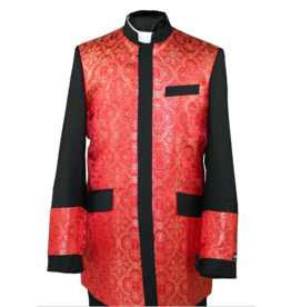 Royal Diamond Church Jacket - Black/Red