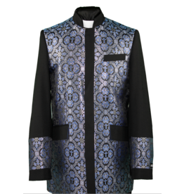 Royal Diamond Church Jacket - Black/Royal
