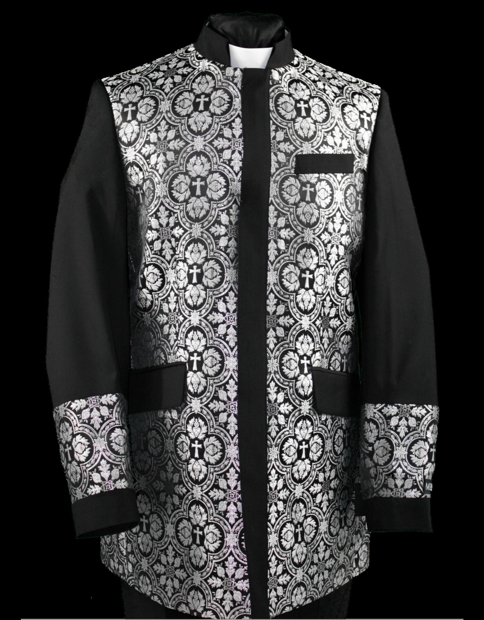 Royal Diamond Church Jacket - Black/Silver