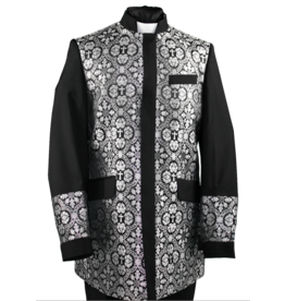 Royal Diamond Church Jacket - Black/Silver