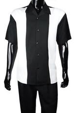 Luxton Luxton Short Sleeve Pant Set - 19400A Black/White