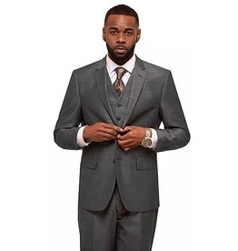 Vitali Vitali Vested Suit - M6038 Charcoal