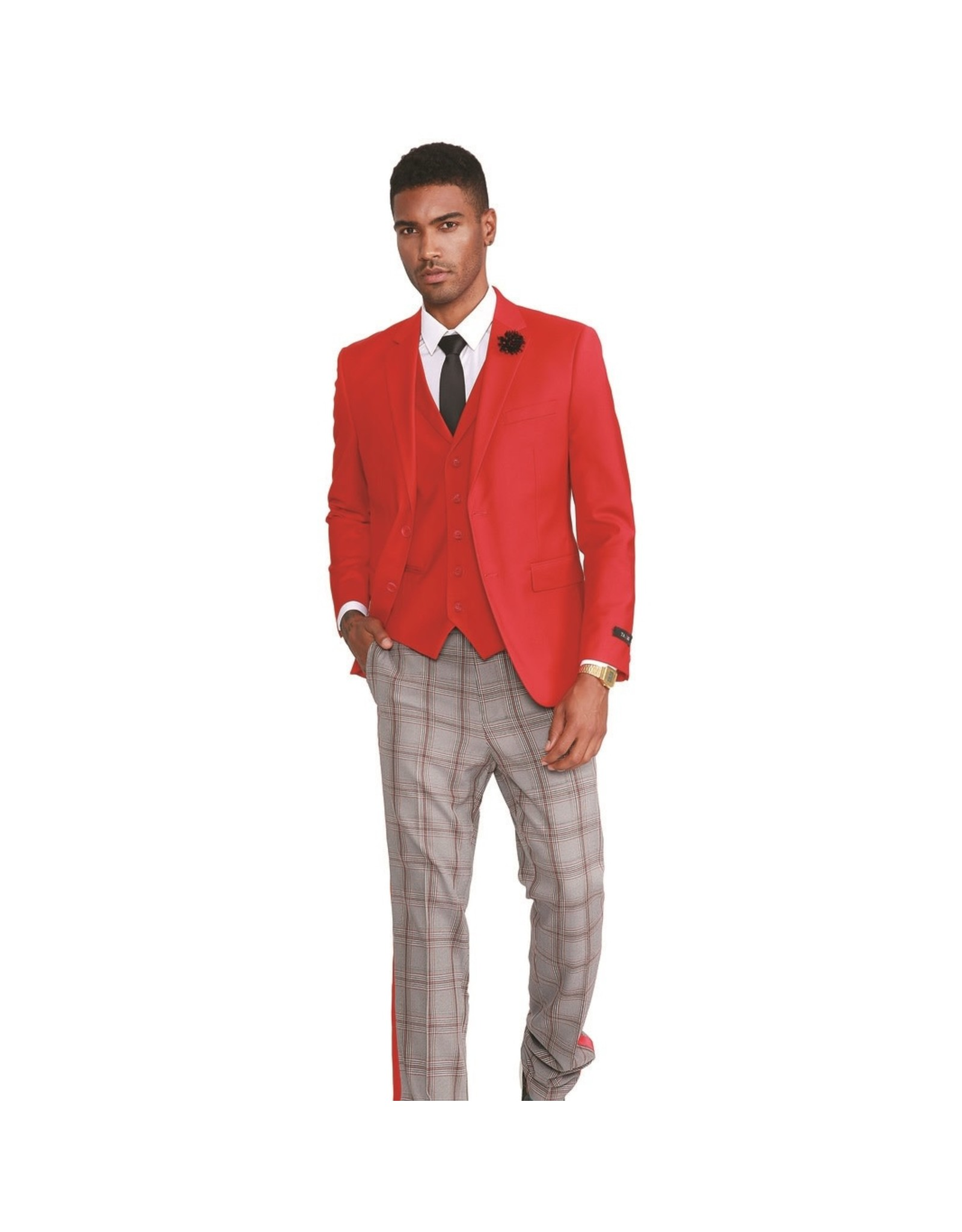 Tazio Tazio Slim Fit Suit - M320SK/03 Red