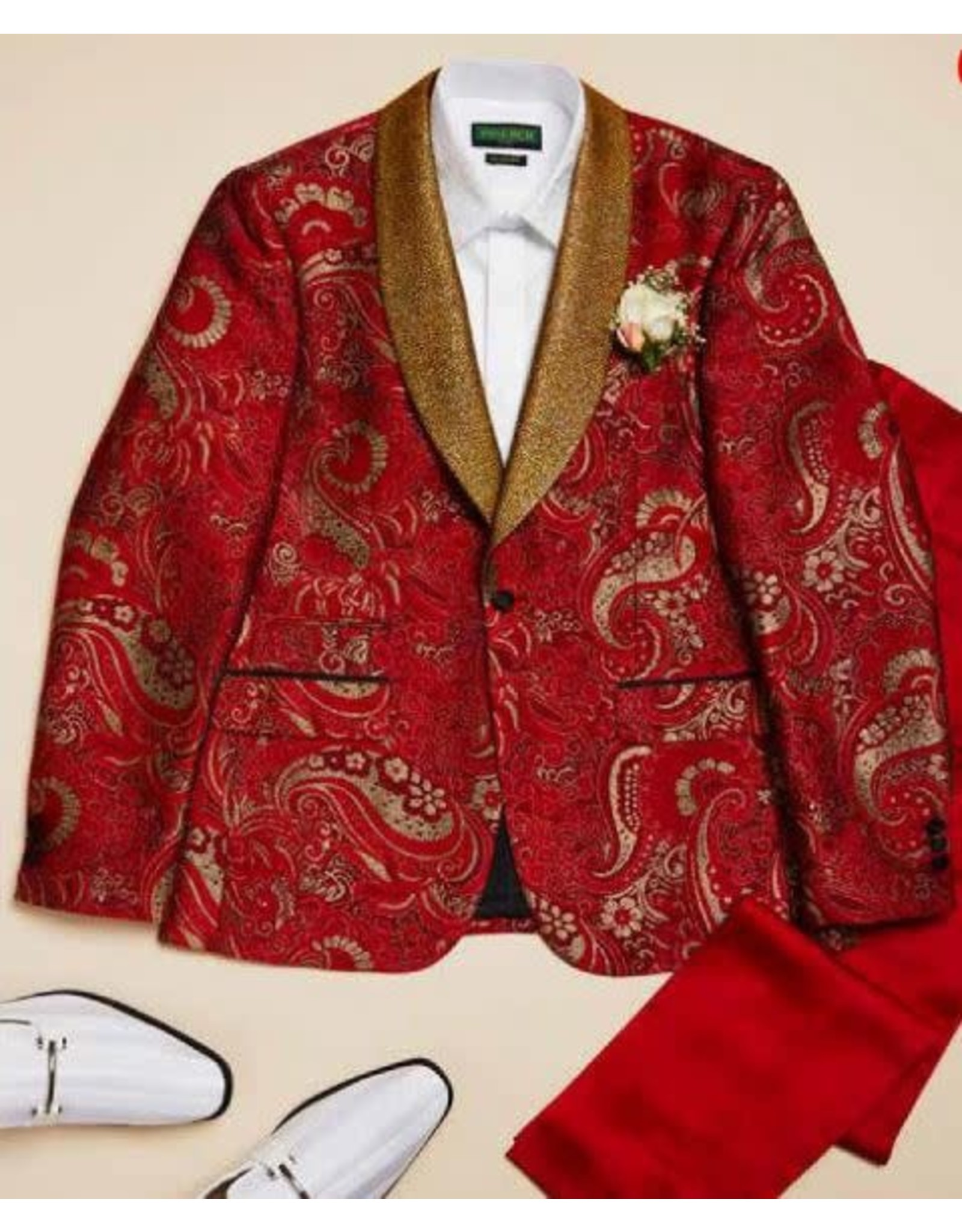 Inserch Inserch Slim Fit Blazer - 579/30 Red
