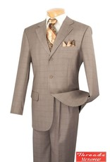Vinci Vinci Windowpane Suit 3RW-15 Tan