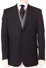 Vitali Vitali Vested Suit - M1435 Black