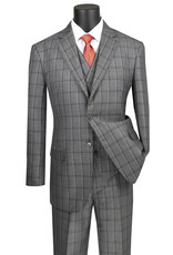 Vinci Vinci Vested Suit - V2RW12 Gray