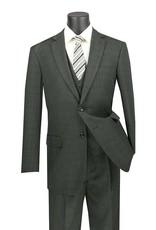Vinci Vinci Vested Suit - V2RW15 Olive