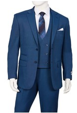 Lorenzo Bruno Lorenzo Bruno Vested Suit - T62BR Blue