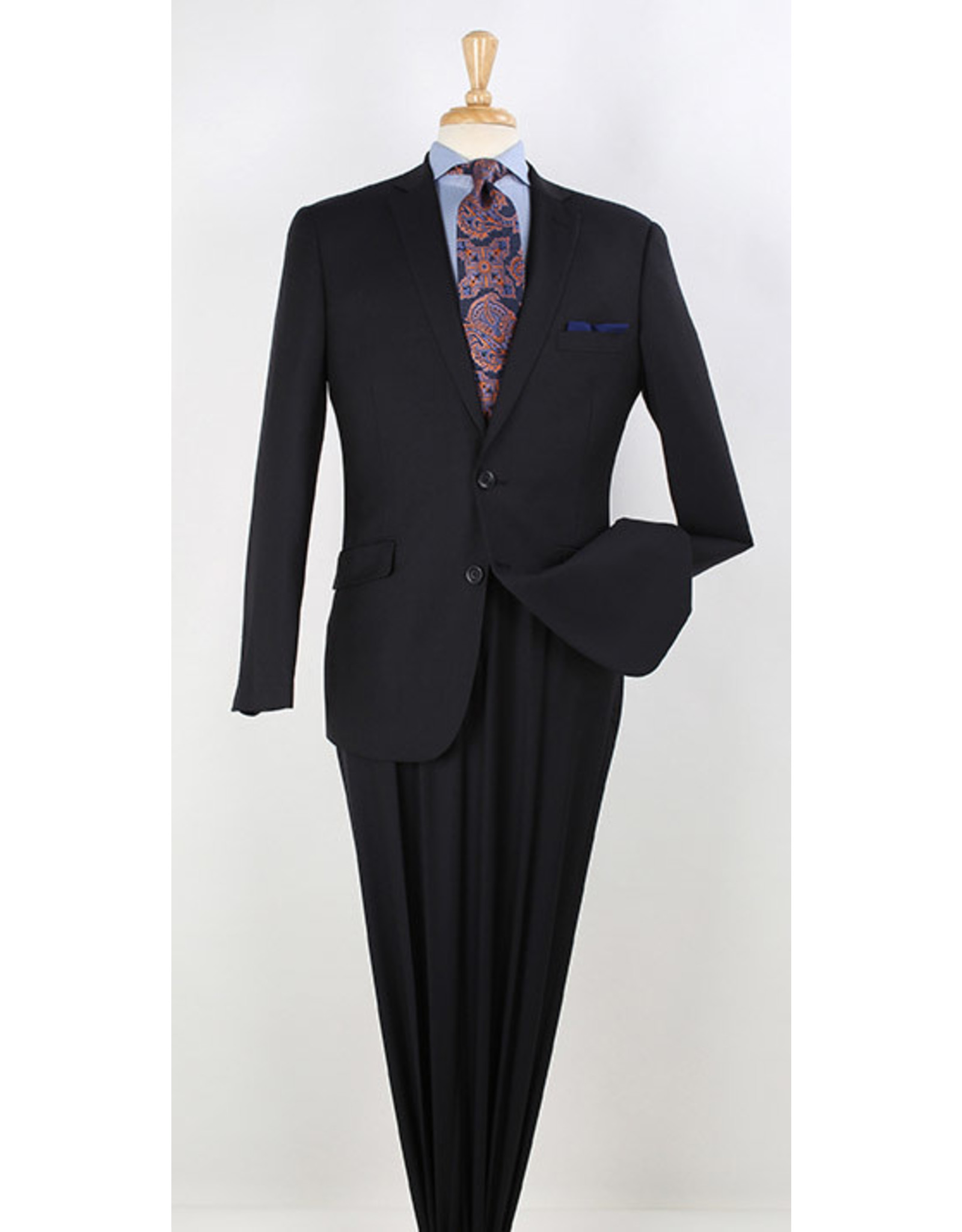 Apollo King Apollo Shadowstripe Suit - W11 Navy