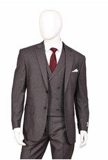 Lorenzo Bruno Lorenzo Bruno Vested Suit - F62SQ Gray