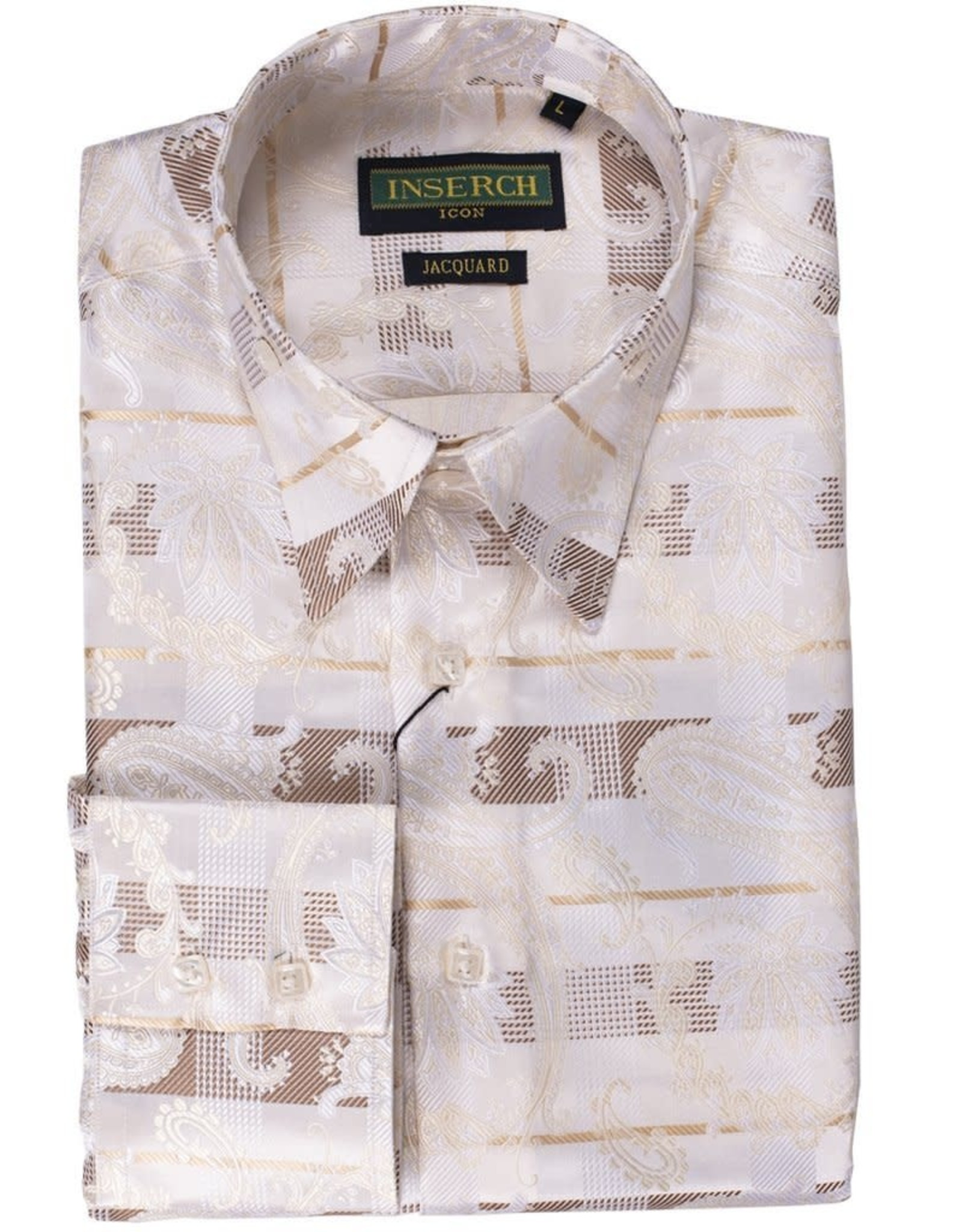 Inserch Inserch Paisley Jacquard Shirt - 2267 Off White