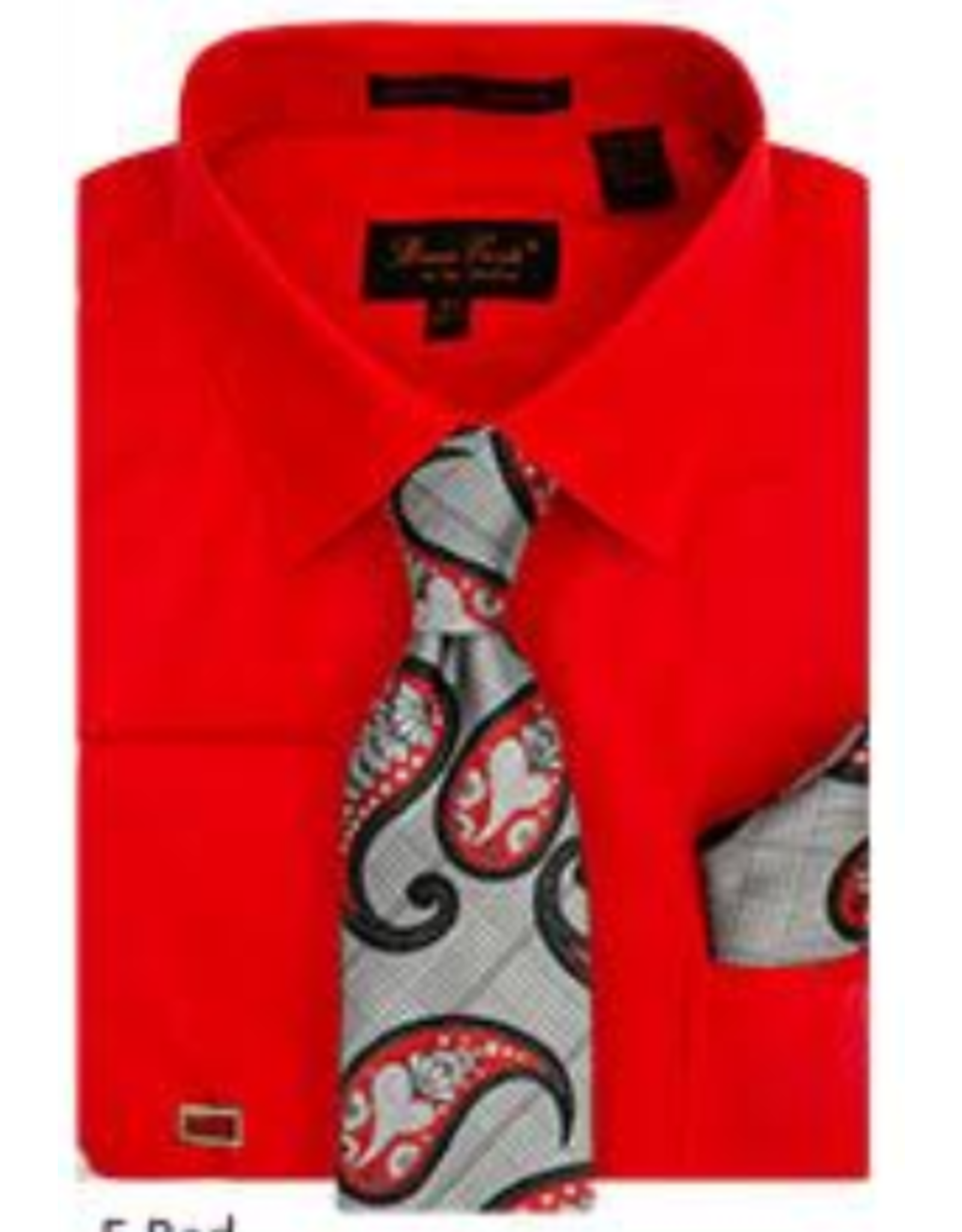 Henri Picard Henri Picard Shirt Set BC1082 Red