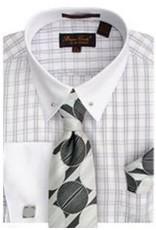 Bruno Conte Bruno Conte Shirt Set CS056 Silver