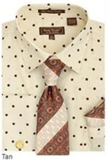 Henri Picard Henri Picard Shirt Set FC169 Tan/Brown