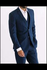 Mazzari Mazzari Vested Suit - 52300 Navy Windowpane