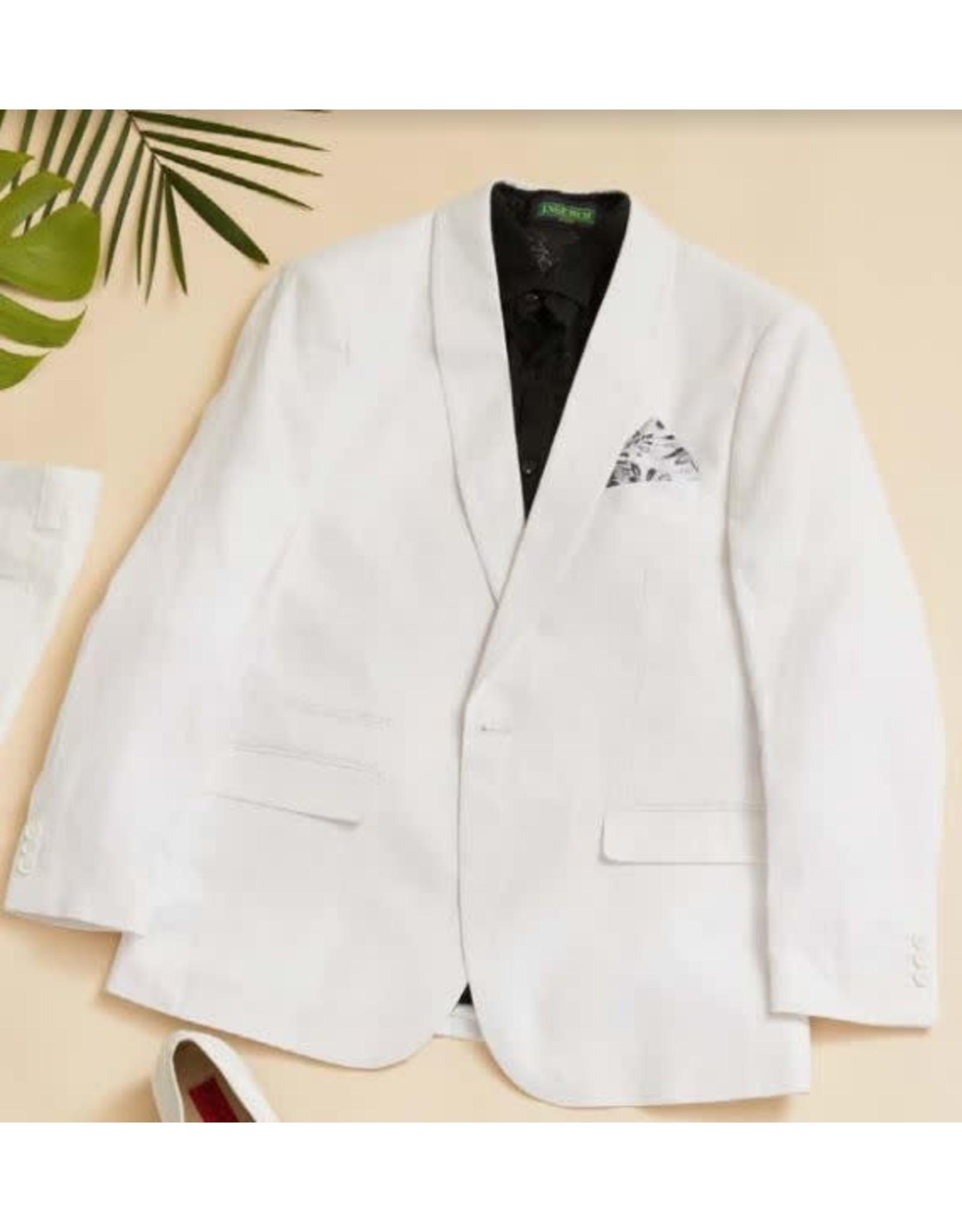 Inserch Inserch Linen Shawl Blazer - 560 White