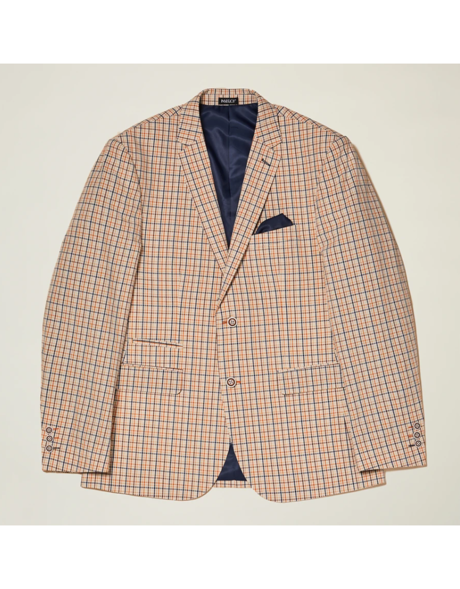 Inserch Inserch Blazer - BL524 Rust/Blue Plaid