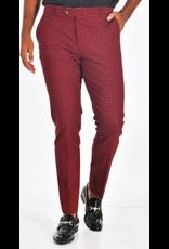 Barabas Barabas Slim Fit Pant - CP93 Black/Red Houndstooth