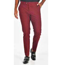Barabas Slim Fit Pant - CP93 Black/Red Houndstooth