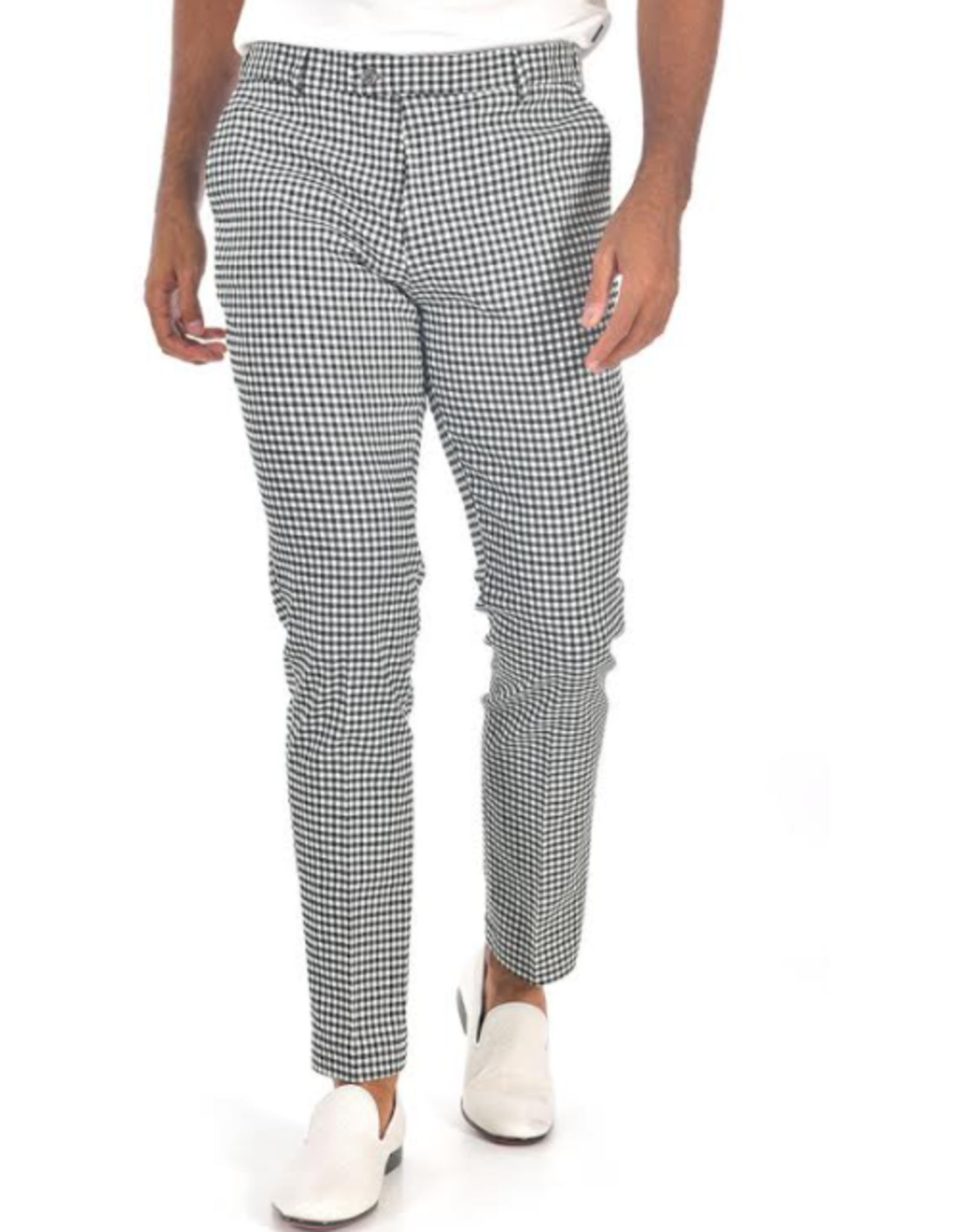 Barabas Barabas Slim Fit Pant - CP92 Black & White Houndstooth