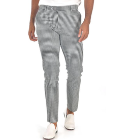 Barabas Barabas Slim Fit Pant - CP92 Black & White Houndstooth