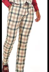 Barabas Barabas Slim Fit Pant - CP74 Cream/Green Plaid