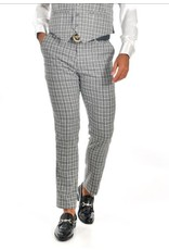 Barabas Barabas Slim Fit Pant - CP63 Gray/White Plaid
