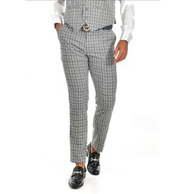 Barabas Slim Fit Pant - CP63 Gray/White Plaid