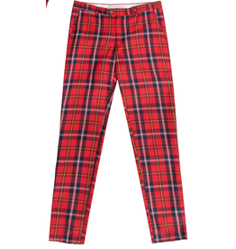 Barabas Barabas Slim Fit Pant - CP48 Red/White