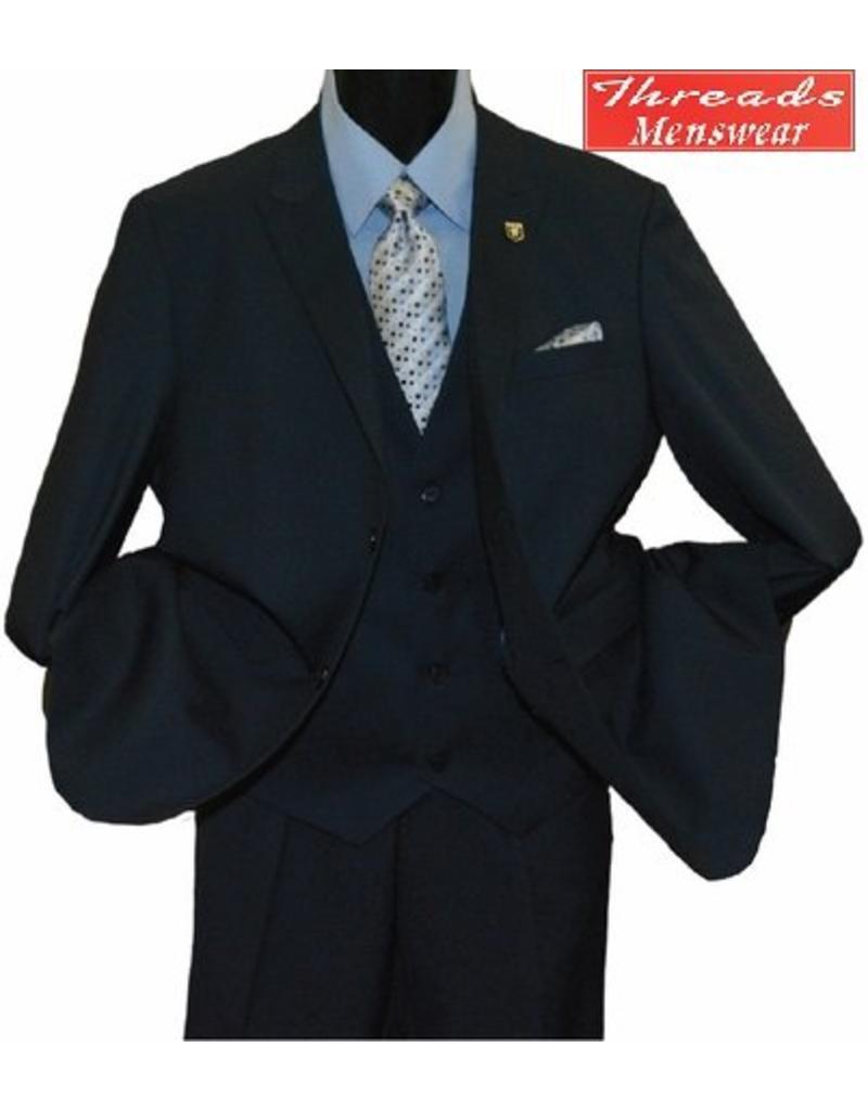 Stacy Adam Stacy Adam Vested 3 Piece Suit 5738-032 Blue