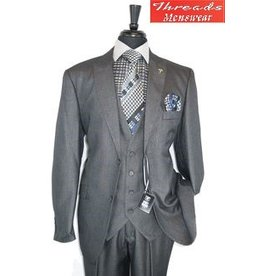 Stacy Adam Stacy Adam Vested 3 Piece Suit 5736-021 Charcoal