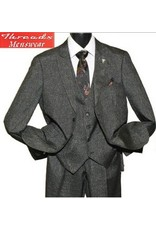 Stacy Adam Stacy Adam Vested 3 Piece Suit 5734-104 Brown Plaid