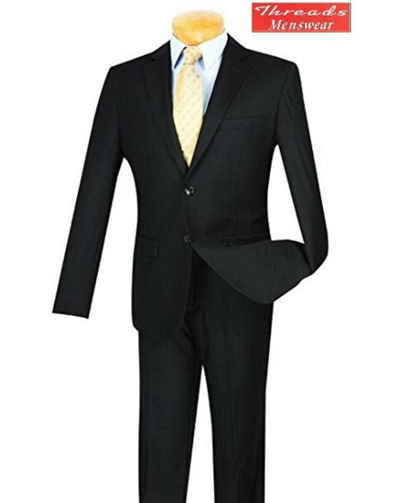 Vinci Vinci Ultra Slim Skinny Suit US900-1 Black
