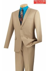 Vinci Vinci Ultra Slim Suit Beige US900-1
