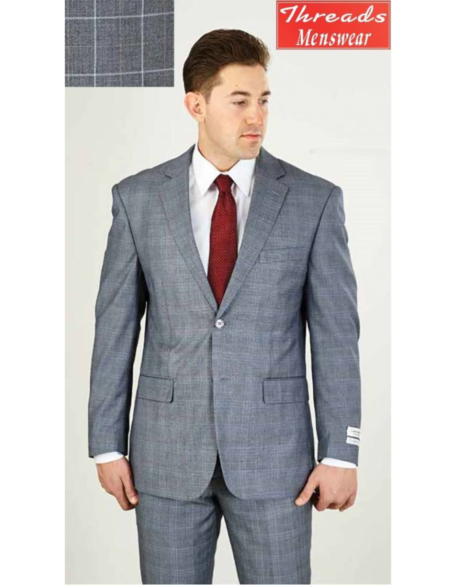 Lorenzo Bruno Lorenzo Bruno Modern Fit Suit M62WP Gray