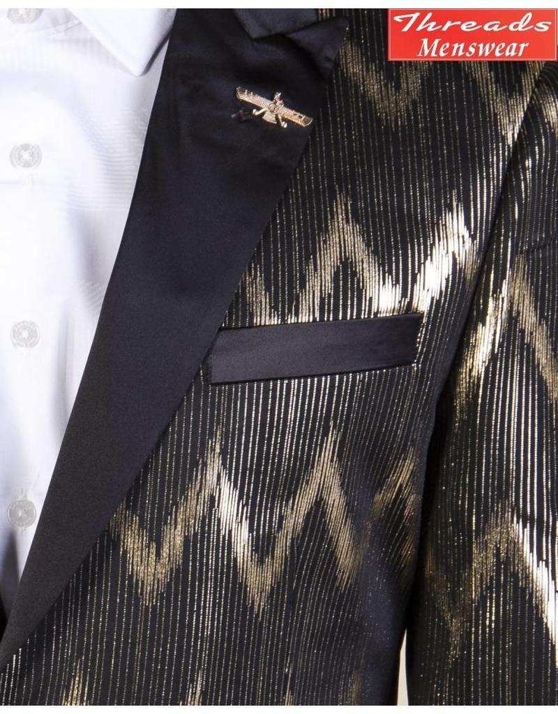 Barabas Barabas Slim Fit Blazer 17802 Black/Gold