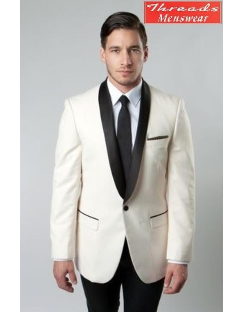 Tazio Tazio Slim Fit Blazer MJ118S Ivory/Black