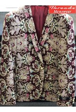 Hollywood Celebrity Hollywood Celebrity Blazer 362-18 Burgundy Multi