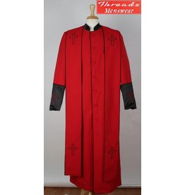 Royal Diamond Royal Diamond Robe & Stole - Red/Black