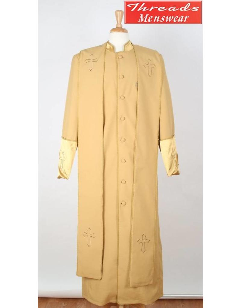 Royal Diamond Royal Diamond Robe & Stole - Gold/Gold